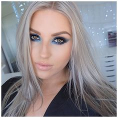 Love this look! https://youtu.be/kr4Is97eBWo blue eyeshadow tutorial! #shaaanxo #blueeyeshadow #kimkardashian