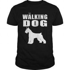 THE WALKING DOG Giant Schnauzer - #sorority shirt #blusas shirt. THE WALKING DOG Giant Schnauzer, tee box,tshirt pillow. CHEAP PRICE =>...