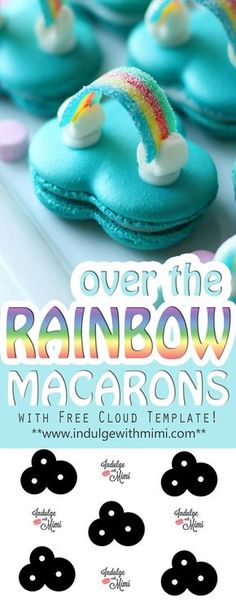 Irish Cream Macaron Filling Over the Rainbow Macaron Tutorial with free cloud template and video!Over the Rainbow Macaron Tutorial with free cloud template and video! Baileys Irish Cream, Macaron Filling, Cookie Recipes, Dessert Recipes, French Macaroons, Over The Rainbow, Rainbow Cloud, Cute Food, Sweet Treats