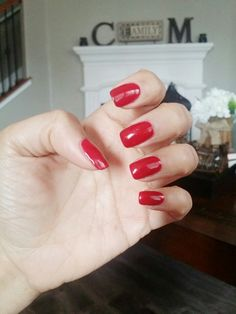 Love this red color from Nexgen: Glam & Glitz. Cc Nails, Dope Nails, Nail Manicure, Manicures, Dip Polish, Polish Nails, Next Gen Nails, Survival Kit, Nail Ideas