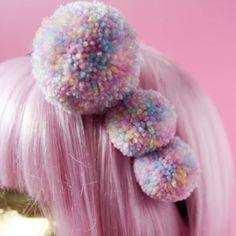 Unicorn Pastel Pom Pom Headband