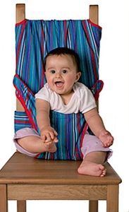 Totseat Travel Highchair ---great idea... now must find it...