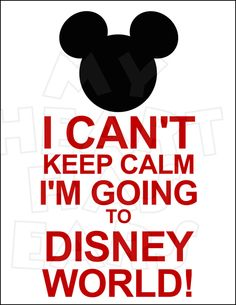 I can't Keep calm I'm going to Disney World INSTANT DOWNLOAD digital clip art DIY iron on transfer My Heart Has Ears. Everyone's favorite mouse, Mickey, sits at the top of this great design. The perfect image to apply to your t-shirt for that Disney vacation!