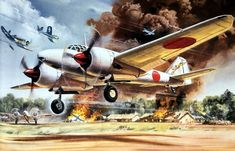 Mitsubishi Dinah by Roy Cross Aviation World, Aviation Art, Ww2 Aircraft, Military Aircraft, In The Air Tonight, Ww2 Pictures, Aircraft Painting, Airplane Art, Cross Art