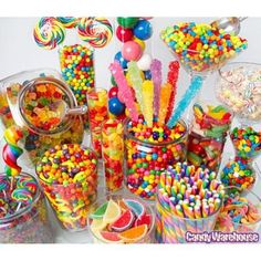 Candy Bars, Rainbows Candies Buffets,