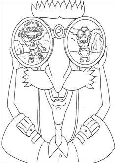 Dibujos para Colorear. Dibujos para Pintar. Dibujos para imprimir y colorear online. Rugrats 68