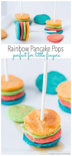 Rainbow Pancake Pops