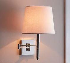 Bedroom Lighting | Pottery Barn- maybe something similar for over side tables