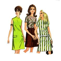 1960s Mod Dress Pattern McCalls M44 Hip Belt by JFerrariDesigns, $11.00