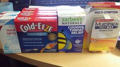 Sick hubby caused a run to the grocery store (Farm Fresh) since none of the stuff I had here helped....some great clearance finds...and they don't expire for over a year... #cantpayfullprice #nocouponsneeded   Nasal Spray $1.37 each Cold-Eeze $1.55 each Zarabees $2.01 each Mucinex $4.50 each....reg $17.89 wow