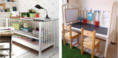 Ideas para reciclar la cuna del bebé: Con una cuna de madera puedes hacer muchas cosas