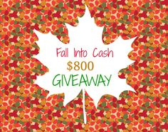 $800 PayPal Cash Fall Into Cash Giveaway, ends 10/5/14