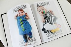 Cute baby photobook | 10 Ways to Document your Baby's 1st Year - Tinyme Blog