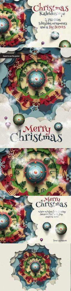 Christmas Kaleidoscope Animated - CM 119298