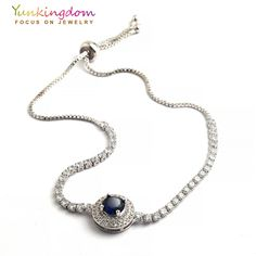 Yunkingdom four colors zircon crystal bracelets for women silver color wedding jewelry gifts