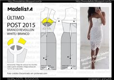 ModelistA: A3 NUMo 0173 DRESS - REVEILLON - BRANCO - ÚLTIMO POST DO ANO