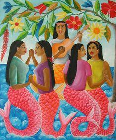 """Dancing Mermaids"" by Fernand Pierre"