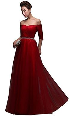 Drasawee Sexy Off Shoulder Short Sleeve Ball Gown Tulle E... http://www.amazon.com/dp/B00VM03CRA/ref=cm_sw_r_pi_dp_lDtkxb1G8PBXY