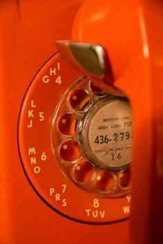 Orange Telephone #EverythingOrange