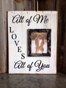 WOOD SIGNBOARD - ALL OF ME (WHITE/BLACK)