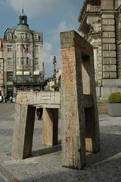 Wooden chair in Liberec