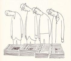 Newspapers - Saul Steinberg (Etats-Unis)