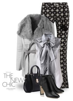 """Star Print 2537"" by boxthoughts ❤ liked on Polyvore featuring Figue and Moschino"