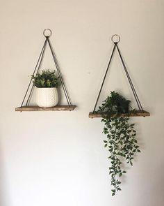 Rope hanging shelves / succulent shelves / rope hanging | Etsy
