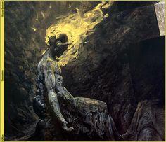 "mortem-et-necromantia: ""Wayne Barlowe - Gods Demon. Dark Fantasy, Fantasy Art, Arte Horror, Horror Art, Illustrations, Illustration Art, Wayne Barlowe, La Danse Macabre, Traditional Paintings"