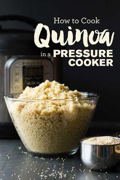 Pressure Cooker Quinoa | If you can remember the number 1, you can cook perfect quinoa in the pressure cooker! | Instant Pot Quinoa | https://passtheplants.com