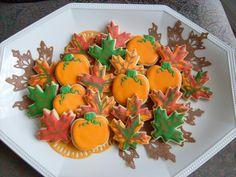 Mini Autumn Mix  Fall Decorated Cookies Pumpkin and by lorisplace, $38.99