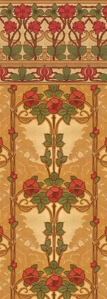 Rose Vine - Historic Wallpapers - Victorian Arts - Victorial Crafts - Aesthetic Movement -- This site sells antique style wall paper! Art And Craft Design, Art Design, Design Crafts, Motifs Art Nouveau, Art Nouveau Design, Art And Craft Videos, Easy Arts And Crafts, Organic Forms, Jugendstil Design