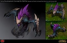 Rek'Sai the Void Burrower Early Concept Pitch by Yideth on DeviantArt