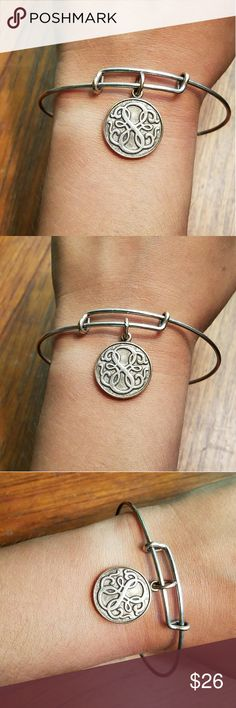 Alex & Ani Rafaelian Silver Path of Life Bangle Beautiful! Wear can be seen in pics! Great for summer! Alex & Ani Jewelry Bracelets