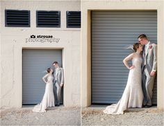 Bride and Groom after getting hitched at the Boathouse at Rockett's Landing in Richmond, VA