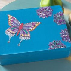 Decorate a Box with Adult Color Pages