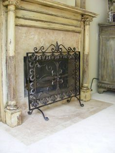 shabby chic fireplace designs - Bing Images