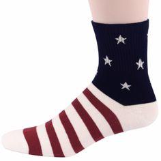 American Flag Elite Crew Socks Fitness Casual Patriotic Old Glory #FootTraffic #Casual