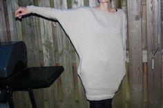 Gebreide jurk met zakken van aniaknitting op Etsy