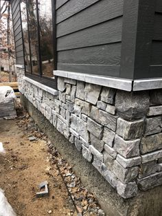 Natural thin stone veneer from Kafka Granite is available in our exclusive line. Never seen before building stone with a natural range of colors. Stone Veneer Exterior, Stone Exterior Houses, House Paint Exterior, Exterior House Colors, Exterior Design, Stone Home Exteriors, Faux Stone Siding, Faux Stone Walls, Stone Facade