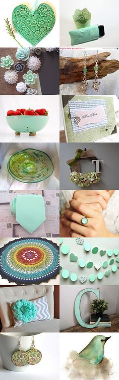 My love of Mint by Kari C on Etsy--Pinned with TreasuryPin.com #annehermine