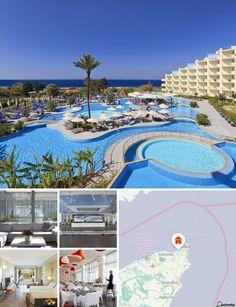 Il resort è situato lungo la costa occidentale di Rodi, a 200 m da una spiaggia di ghiaia e dal mare. Il centro di Ixia, ricco di bar e ristoranti, è comodamente raggiungibile dalla struttura. La città di Rodi, raggiungibile in autobus, dista appena 4 km. L'aeroporto internazionale di Rodi si trova a circa 12 km di distanza.