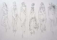 Fashion Sketchbook - fashion design drawings; dress sketches; fashion portfolio // Lois Albinson