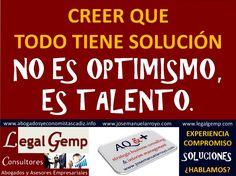Optimismo o Talento. www.josemanuelarroyo.com