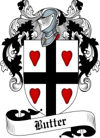 Butter Family Crest  Butter Coat of Arms   VIEW OUR SCOTTISH FAMILY CREST / SCOTTISH COAT OF ARMS PRODUCTS     Orders over $85 qualify for F...