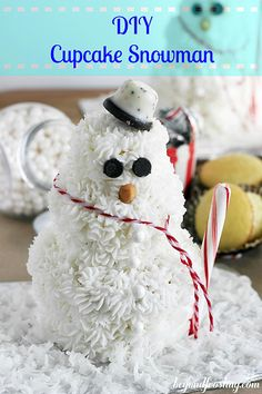 Adorable , Quick, And So Easy Cupcake Snowmen !! All Ages Will Love !!