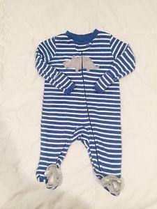 6223d68f0 Just One You by Carter s Blue Stripe NB Newborn Rhino Sleeper One ...