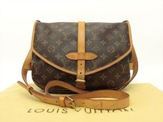 Louis Vuitton Authentic Monogram Saumur 30 Cross Body Shoulder Bag Auth LV Louis Vuitton Shoulder Bag, Cross Body, Louis Vuitton Monogram, Mini, Pattern, Bags, Handbags, Patterns, Model