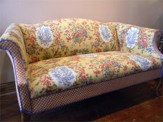French Country Sofa (Combining floral and patterns)