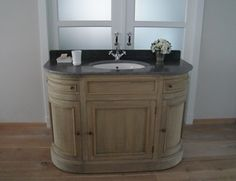 Bathroom cabinet oak wood